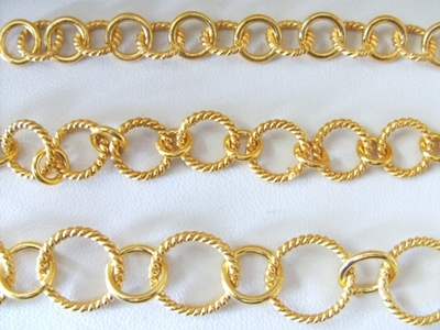 Chain by the Foot - 3 Sizes - 24KT Gold Over Copper
