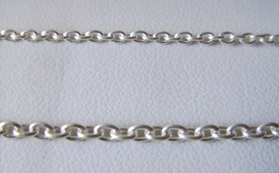 Chain by the Foot - 2 or 3mm Links - .999 Silver Over Copper<br>SCBKCH-001 -