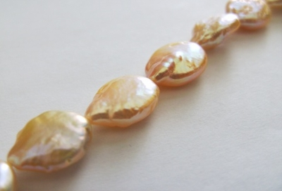 Champagne Fresh Water Coin Pearl