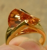 Champagne Topaz CZ Lazer cut Ring with choice of sizes 5-10