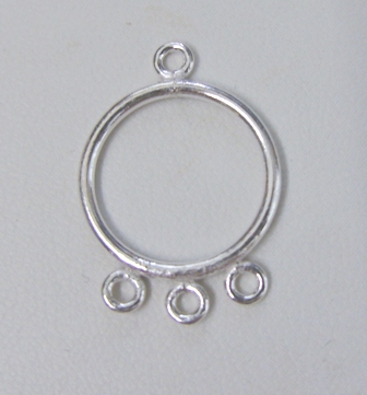 Chandelier Earring Finding -- Hangs 1 Inch w/ 3mm Rings - 12 Pieces - .999 Silver Over Copper<br>SCBK005
