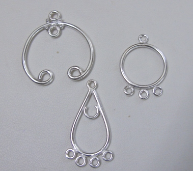 Chandelier earring findings 999 silver over copper aloadofball Images