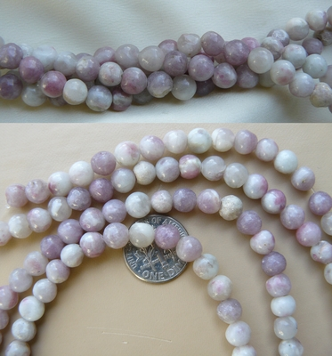 "Chinese Purple Jade Beads  4mm or 6mm 16"" Strands"