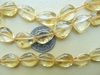 Citrine larger tear drop beads 12 inch strand