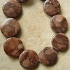 "Coco Jasper 20MM Circle Beads 16"" Strands"
