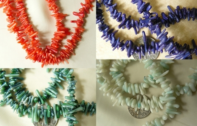 "Colorful Coral Small limbs 4 colors 16"" strands"