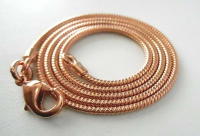 Copper Snake Chain Ready to wear-24 Inch with Lobster clasp