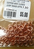 Copper Jump Ring 6mm - CLOSED 130+Pieces COBK45-6