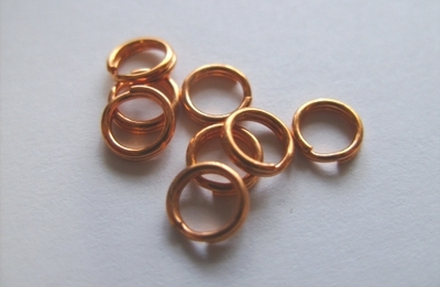 Split Ring - 6mm - 20 Pieces - Copper<br>SL0602CPL
