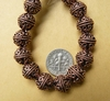 Bali Style Bead 11mm  Copper 20 beads fancy round design