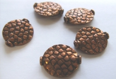 Bead - 15x17mm - 5 Beads - Copper<br>CB13