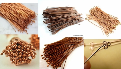 Copper Head and Eye Pins with choices of Bright or Antique