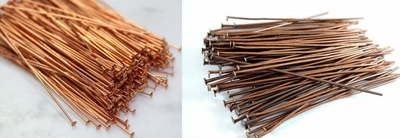 Copper Head Pins 22 ga. 50 Pieces  choice of Bright or Antique COBK-47