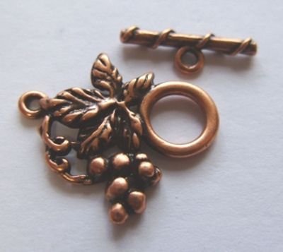 Copper Grape Cluster Toggle 10mm w/ 20mm Bar 1 Clasp J87ACP