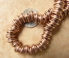 Copper triple ring 9mm beads larger hole size 4mm 55 beads