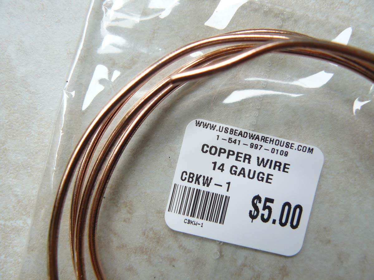 Copper wire 14 Gauge one Oz. Rolls approximately 3 Feet