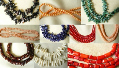 Coral Beads, many colors Reds, White, pink, Blue, Green and Black