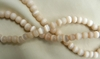 "Creamy colored Cats eye beads 4-6 and 8mm 16"" strands"