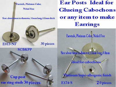 Ear Post for Cabochons