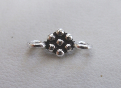 Daisy Connector - 5x12mm - .999 Pure Silver Over Copper - 35 Pieces