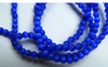 "Dark Blue Cats Eye Fiber Optic Beads 16"" strands"