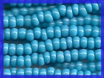 Dark Blue Turquoise 8/0 Seed Beads