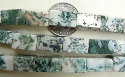 Dendritic Moss Agate Rectangles 9X16mm