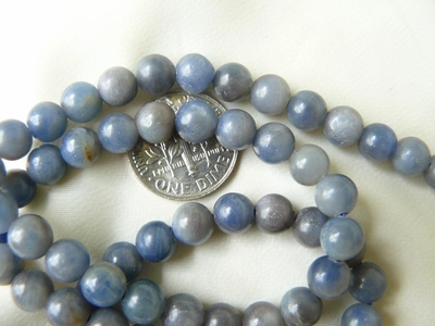 "Denim Sapphire Beads 6mm Round 16"" Strands"