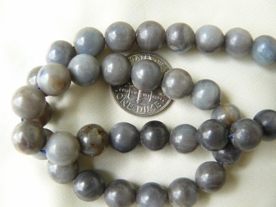"Denim Sapphire Beads 8mm Round 16"" Strands"