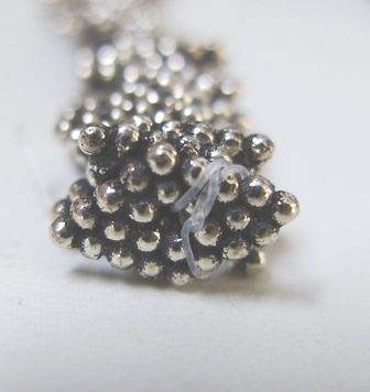 Diamond Dot Spacer - 7x12mm - Over 100 Spacers - .999 Silver Over Copper<br>SCBK655
