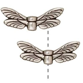 Dragonfly Wings - 9x22mm - 6 Pieces - .999 Silver Over Copper<br>SCBKB25