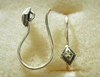 Ear Wire w/ Detail - 1 Pair - 10x12mm - Sterling Silver<br>EI4435