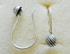 Ear Wire w/ Detail - 1 Pair - 10x12mm - Sterling Silver<br>EI4464