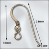 Ear Wires w/Ball - 1 Pair - Gold Filled<br>GF-102