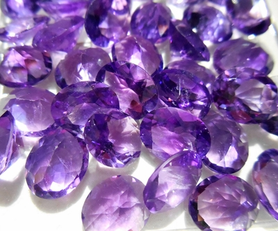 Faceted 8x10mm Oval African Amethyst Gemstone
