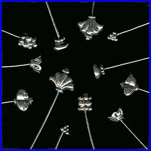 Fancy Head Pins -Sterling Silver-