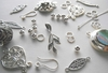 Crimp beads, spacers, enhancers, end Connectors Sterling Silver -