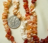 "Fire Opal Chip Beads 36"" strands"