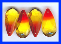 Fire Opal Drops   24x12mm