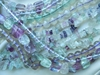 "Fluorite - Round, Square, Chips and more 16 "" Strands"