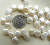 "Fresh water Pearls slightly flattened ""Buttons"" 8mm round by 6mm Thick"