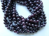 "Garnet Beads- 4mm Round 16"" Strands Natural stone Color"