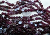 "Garnet Coin Cut Beads 5 to 7mm 15"" strands"