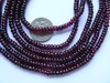 "Garnet Beads- Rondelles 14"" Strands 4x2mm Natural Stone"
