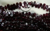 "Garnet Side drilled Flat Tear drop Beads 14"" strands 5x6mm"