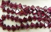 "Garnet Trillion Cut Beads 5x6mm AAA Premium cut 14"" strands"