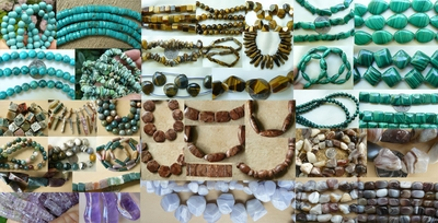 -Gemstone Beads, Amber, Amethyst, Labradorite. Gem Beads From A to Z