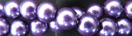 "Glass Pearls Uniform and nice Purple16"" strand 4- 6- or 8 MM"