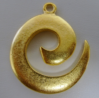 Gold Celtic Spiral Pendant