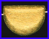 Mat Bead - 25.5x18mm - Gold Plated Silver<br>ORSB-1932